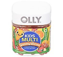 Olly Kids Multi Gummy Worms - 70 CT