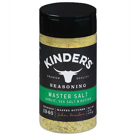 Kinders Seasoning Master Salt - 6 OZ