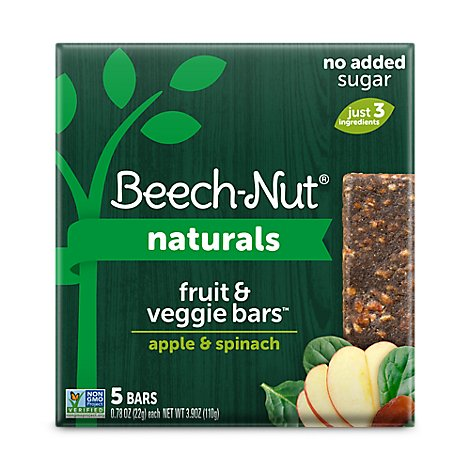 Beechnut Fruit & Veggie Bar Apple & Spinach - 5-.78 OZ