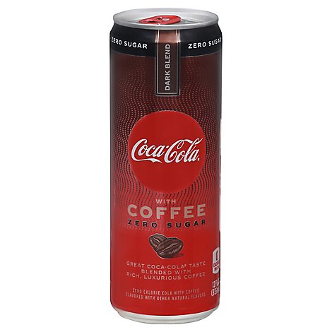 Coca-Cola Soda with Coffee Dark Blend Zero Sugar Cans - 12 Fl. Oz.