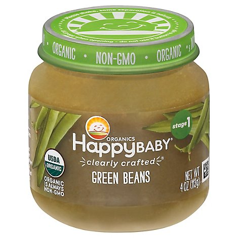 Happy Baby Cc Stage 1 Jar Green Beans - 4 OZ