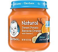 Gerber 2nd Foods Natural Sweet Potato Banana Orange 4oz Jar - 4 OZ