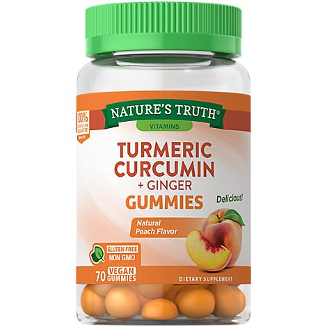 Natures Truth Turmeric & Ginger Gummies - 70 CT