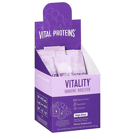 Vital Protein Vitality Grape Citrus Sticks - 6.91 OZ