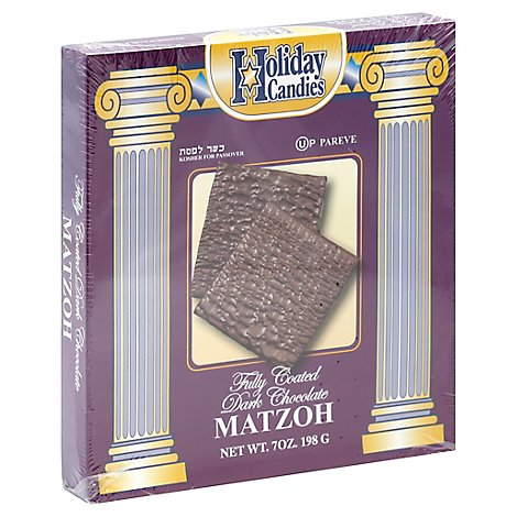 Holiday Candies Dark Chocolate Matzo Crackers - 7 OZ