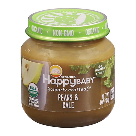 Happy Baby Organic Stage 2 Cc Pear & Kale Jar - 4 OZ
