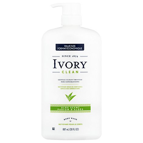 Ivory Body Wash Aloe - 30 FZ