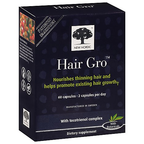 New Nordic Hair Gro - 60 CT