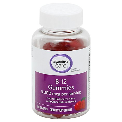 Signature Care Gummies Vit B-12 3000 Mcg - 100 CT