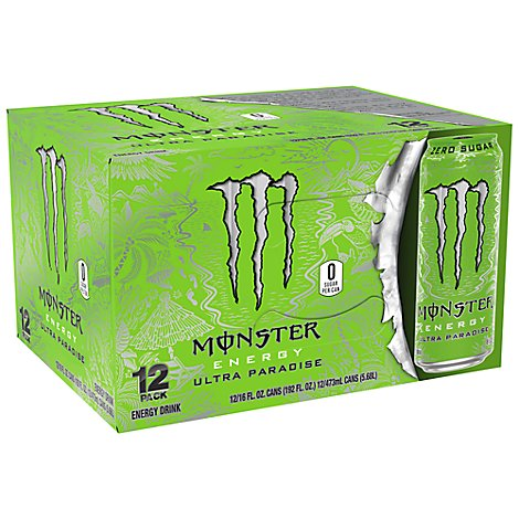 Monster Energy Drink Zero Sugar Ultra Paradise - 12-16 Fl. Oz.