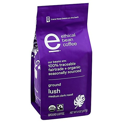 Ethical Bean Lush Ground Coffee - 8 OZ