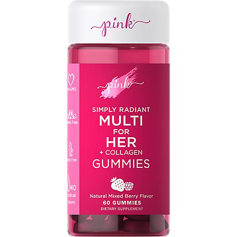 Pink Simply Radiant Multi Gummies For Her - 60 CT