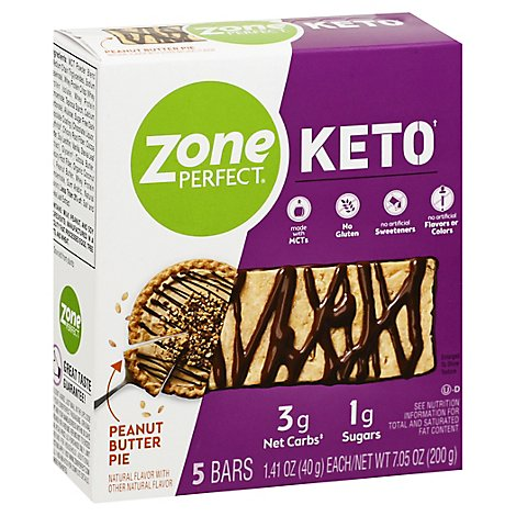 Zoneperfect Keto Bar Peanut Butter Pie - 5-1.41 OZ