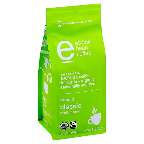 Ethical Bean Classic Ground Coffee - 8 OZ