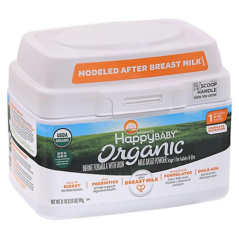 Happy Baby Stg 1 Organic Formula W/iron - 21 OZ