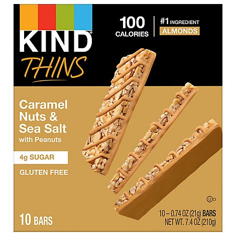 Kind Thins Caramel Almond & Sea Salt - 10-.74 OZ
