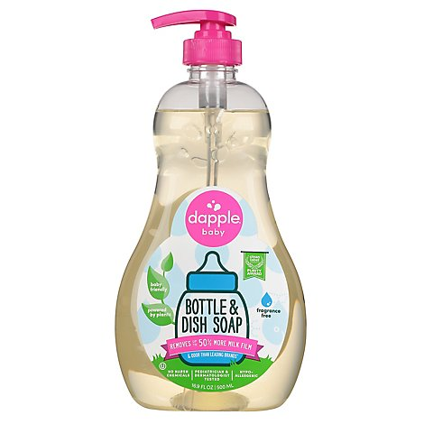 Dapple Bottle & Dish Soap Fragrance Free - 16.9 FZ