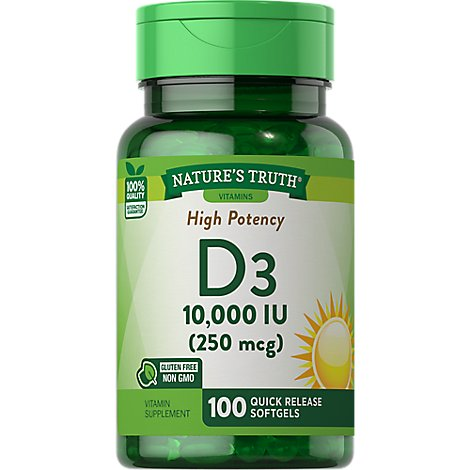 Natures Truth Vitamin D 10000iu - 100 CT