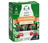 Gerber Organic Fruit Infused Water Strawberry - 4-3.5 FZ