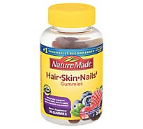 Nature Made Hair Skin Nails Adult Gummies - 90 CT