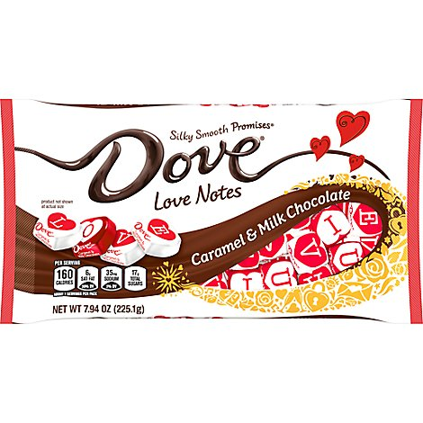 Dove Promises Chocolate Candy Caramel & Milk Chocolate Valentines Day Love Notes - 7.94 Oz