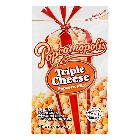 Popcornopolis Popcorn Triple Cheese - 4.5 OZ