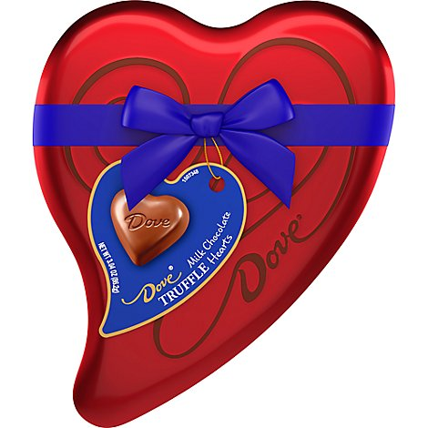 Dove Chocolate Candy Chocolate Truffles Valentine Heart Gift Box - 3.04 Oz