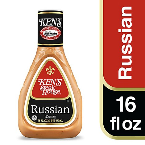 Kens Steak House Russian Salad Dressing 16 Oz - 16 FZ