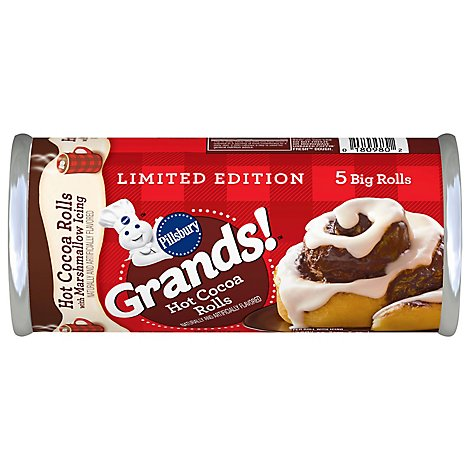 Pillsbury Grands Hot Cocoa Rolls W Mrshmlw Icing - 17.5 OZ