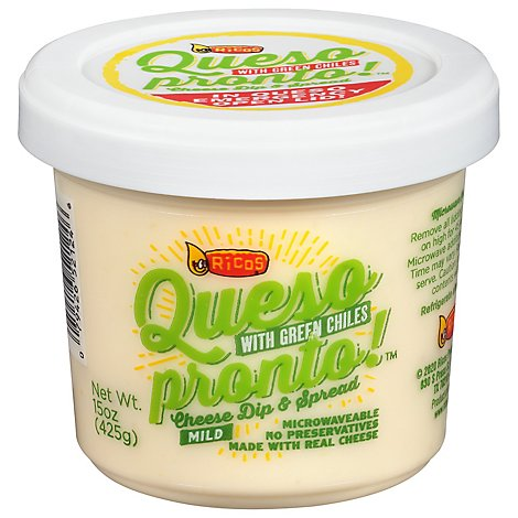 Ricos Green Chili Cheese Dip - 15 OZ