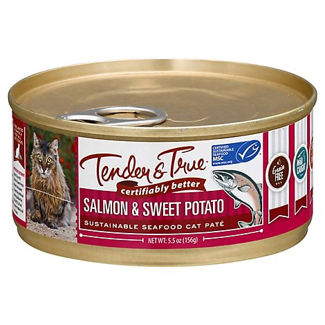 Tender & True Cat Food Slmn & Sweet Pot - 5.5 OZ