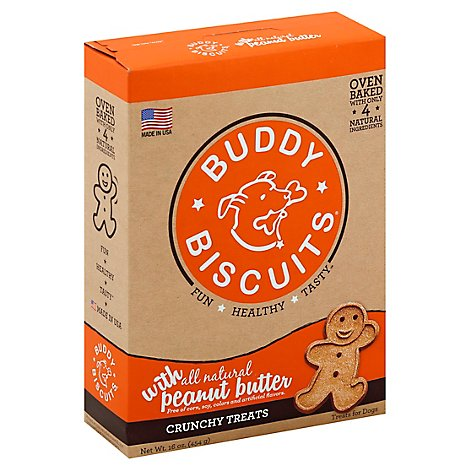 Buddy Biscuits Peanut Butter - 16 OZ