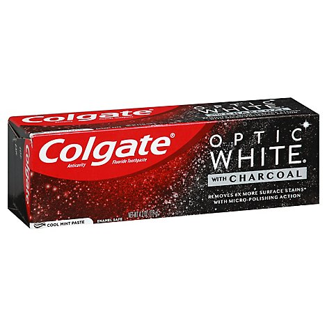 Colgate Optic White Charcoal Toothpaste - 4.2 OZ