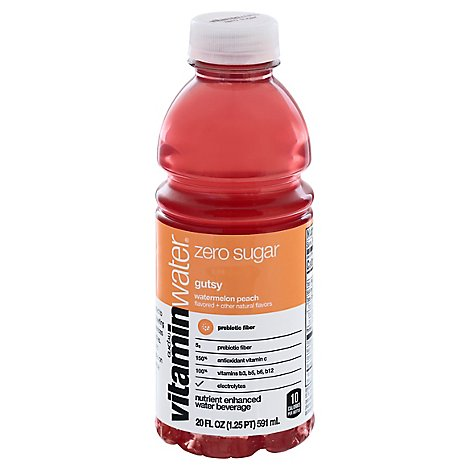 Vitaminwater Zero Sugar Gutsy Bottle, - 20 FZ