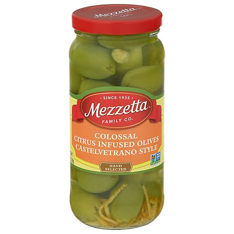 Col Castelvetrano Style Citrus-infused Olives - 8 OZ