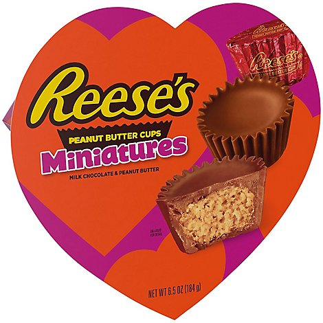Hshy Reese Pb Minis Heart Box - 6.5 OZ