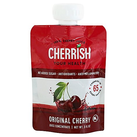 Cherrish Tart Cherry Juice Original Pouch - 3 OZ