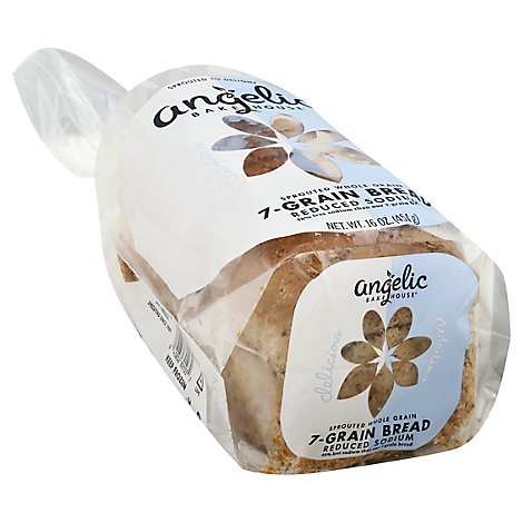 Angelic Bakehouse Sprtd Reduced Sodium 7 Grain Bread - 16 OZ
