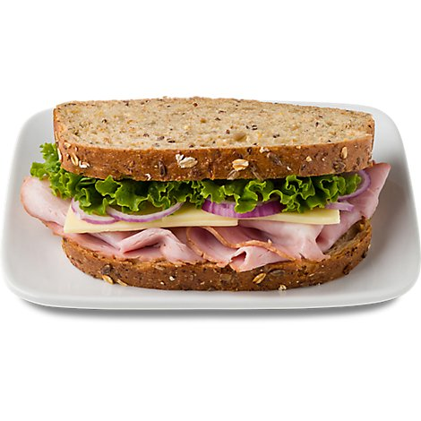 Boars Head Honey Maple Ham & Havarti Artisan Sandwich Gng - Each (490 Cal)