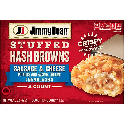 Jimmy Dean Sausage & Cheese Stuffed Hash Browns - 15 OZ