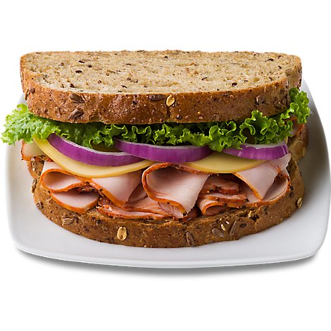 Boars Head Cracked Pepper Turkey & Smoked Gouda Artisan Sandwich Gng - EA