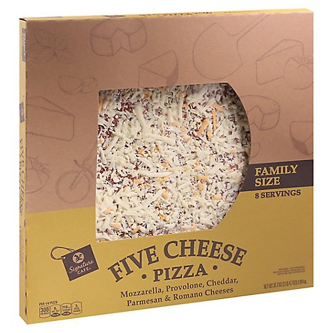 Signature Cafe Pizza Five Cheese Family Size - 36.7 OZ