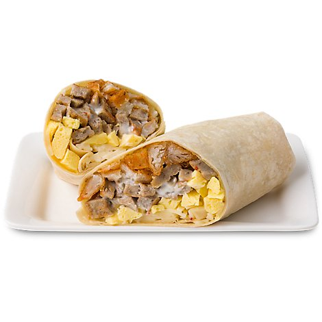 Signature Cafe Breakfast Burrito Sausage Hot - Each (940 Cal)
