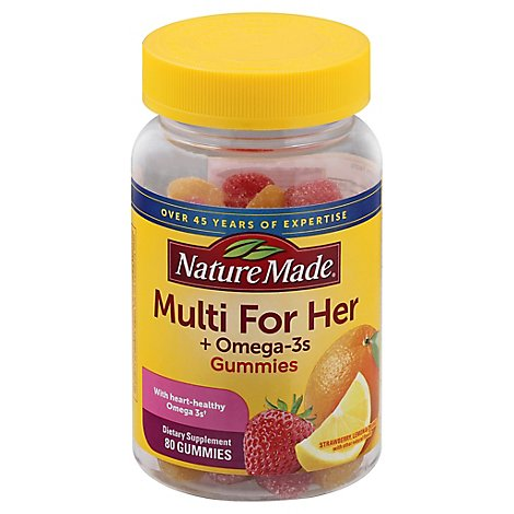 Nature Made For Her Omega 3 Gummies - 80 CT