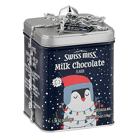 Swiss Miss Hot Cocoa Single Gift Tin With Assorted Flavors - 5.52 OZ