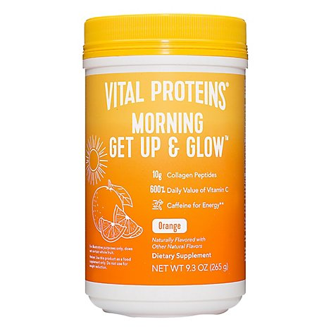 Vital Proteins Morning Get Up & Glow Orange - 9.3 OZ