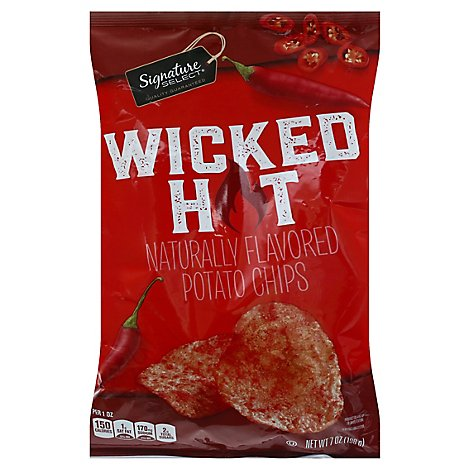Signature Select Potato Chips Wicked Hot P65 - 7 OZ