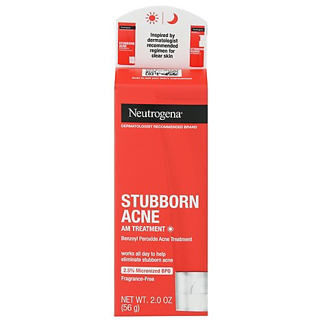 Neutrogena Stubborn Acne Am Treatment - 2 OZ