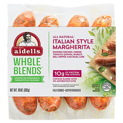Aidells Italian Style Margherita Smoked Chicken Links - 10 OZ