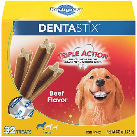 Pedigree Dentastix Beef Dental Dog Treats Large - 32 CT